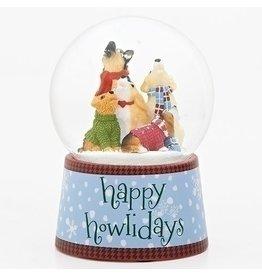 Happy Howlidays Musical Snowglobe