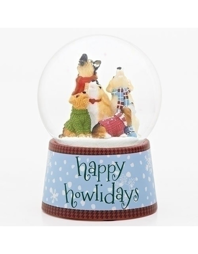 Happy Howlidays Musical Snowglobe