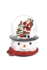 Santa on Snowman Base Musical Snowglobe