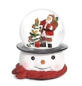 Santa on Snowman Base Musical Snowglobe