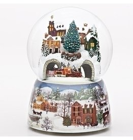 Revolving Train Musical Snowglobe