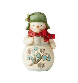 Jim Shore Mini Snowman with Cocoa