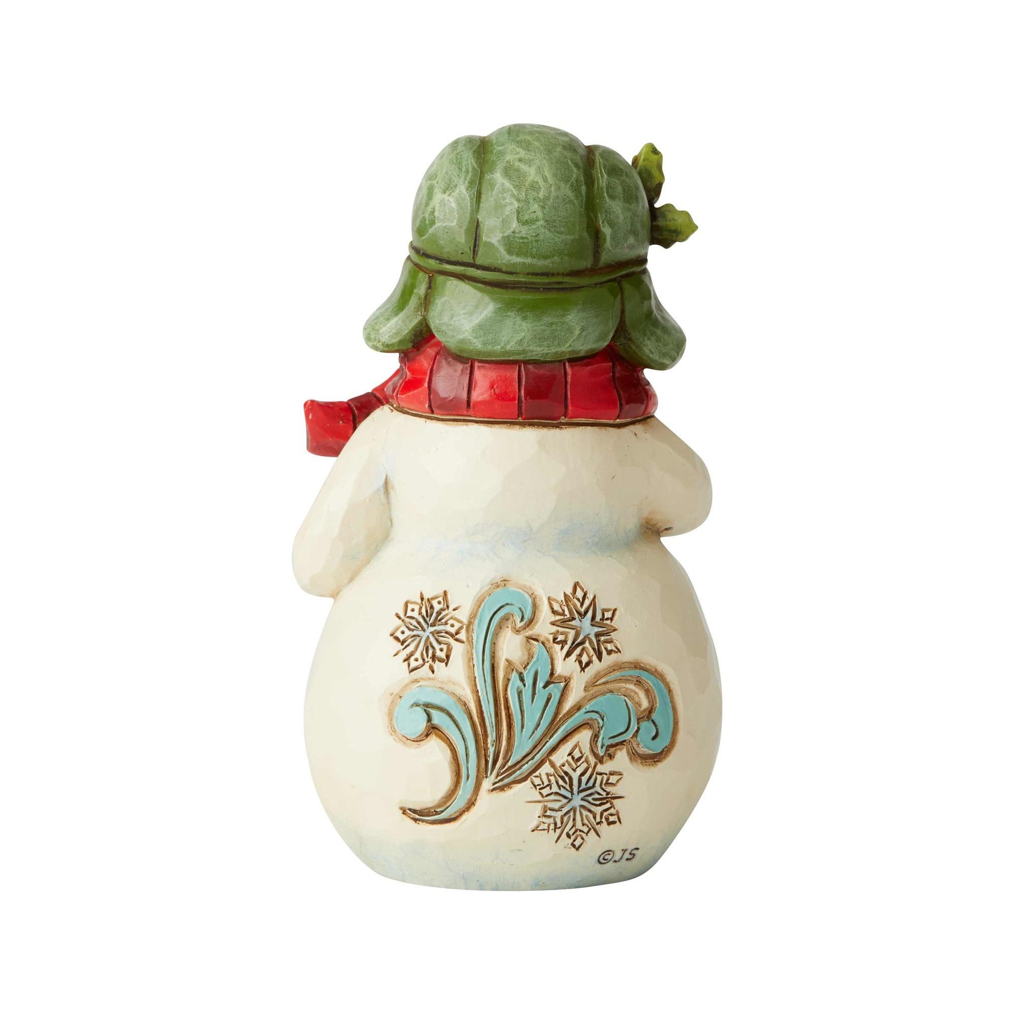 Jim Shore Mini Snowman with Cocoa