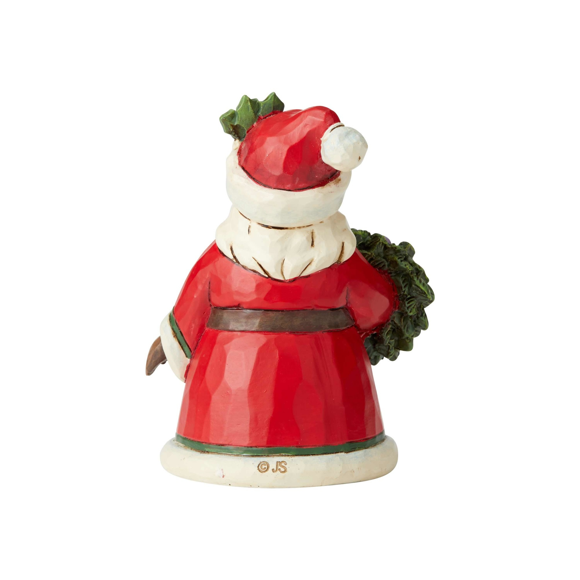 Jim Shore Mini Santa Holding Wreath