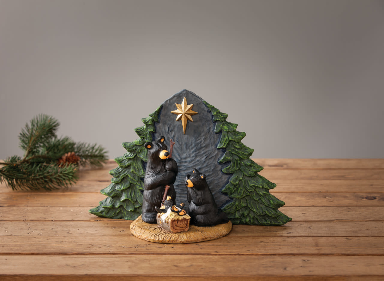 Big Sky Carvers Forest Bear Nativity