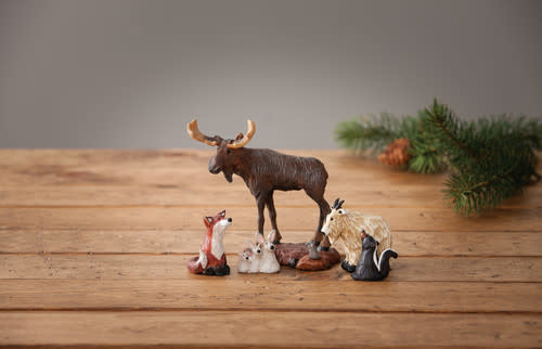 Big Sky Carvers Forest Nativity Friends S/5