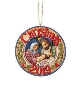 Jim Shore 2019 Holy Family Ornament