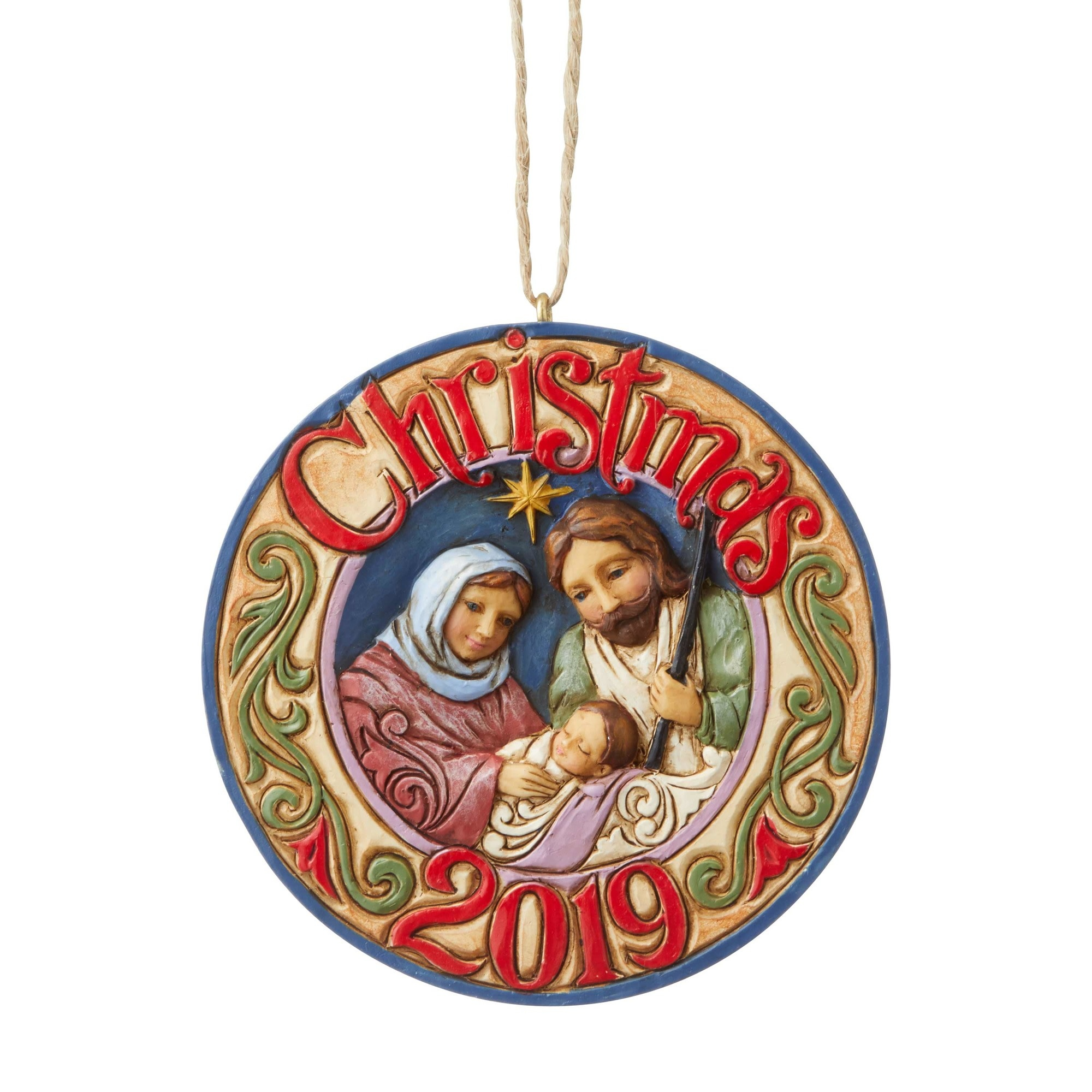 Jim Shore 2019 Holy Family Ornament
