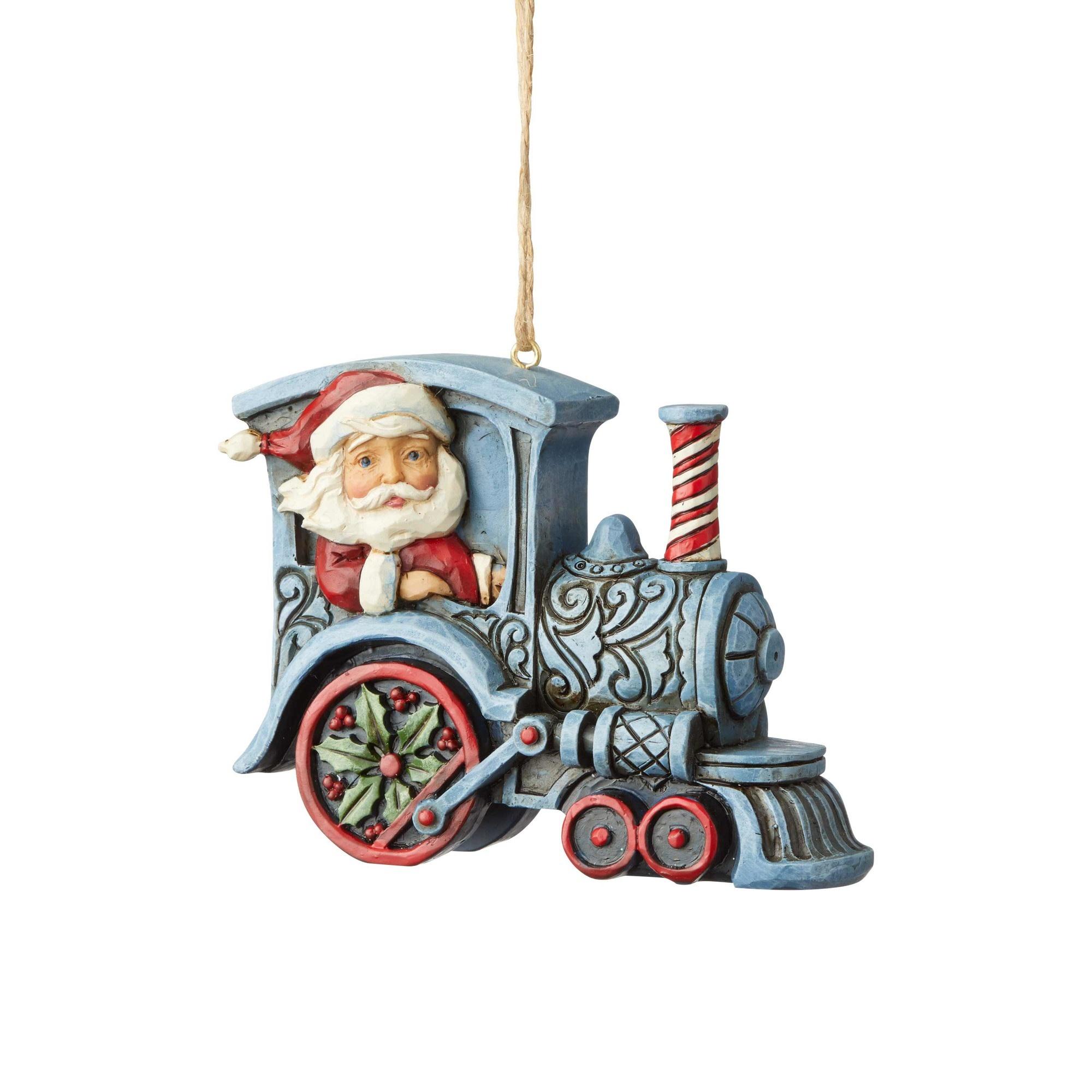 Jim Shore Santa in Train Engine Ornament
