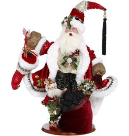 Mark Roberts Coal Stocking Santa