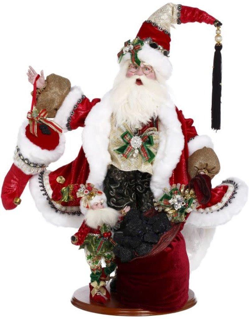Mark Roberts Coal Stocking Santa