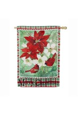 Christmas Floral House Flag
