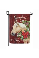 Christmas Horse Garden Flag
