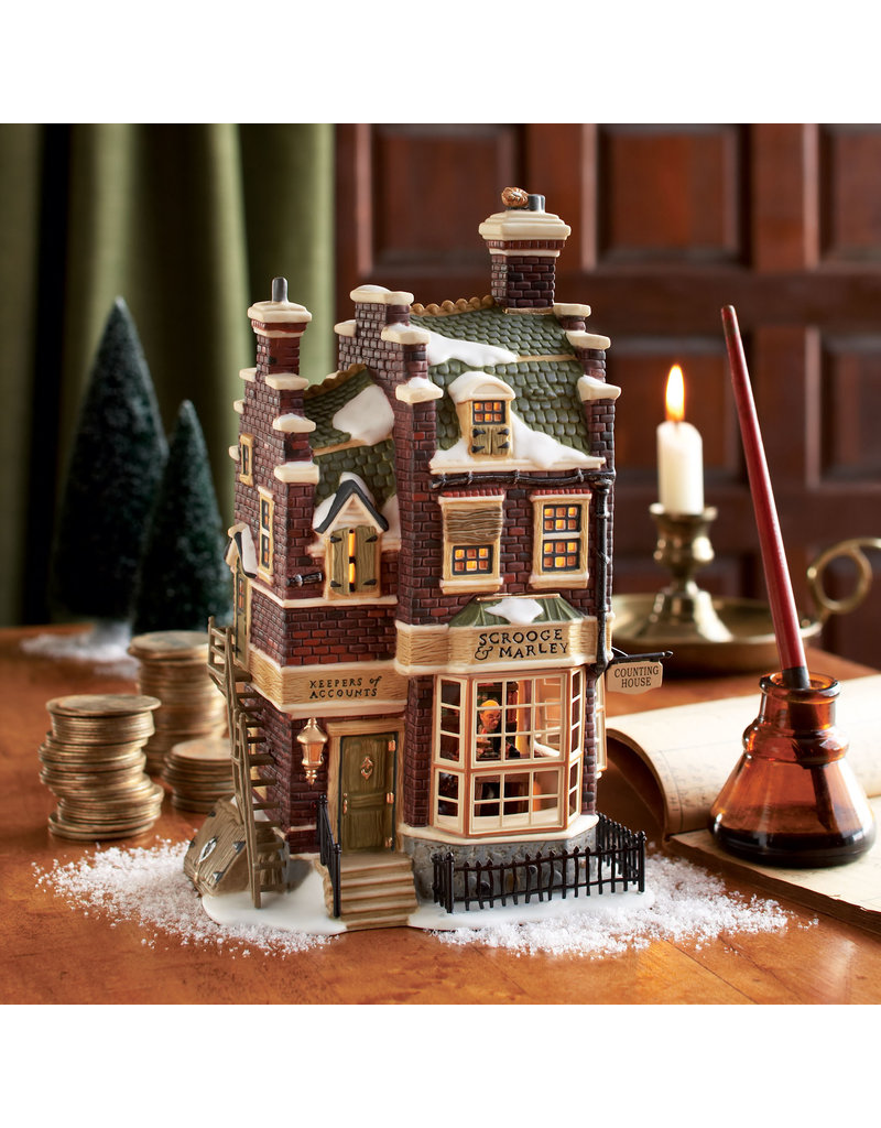 Department 56 Scrooge and Marley Counting House for Dickens Village