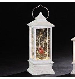 White Cardinal Confetti Lantern