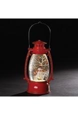 Red Snowman with Cardinal Confetti Lantern