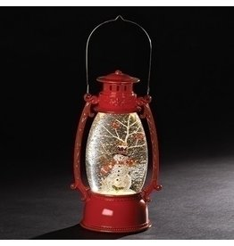 Red Snowman with Cardinal Confetti Lantern