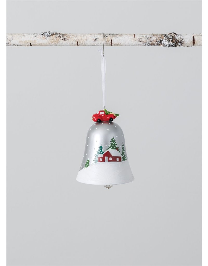 Red Barn Bell Ornament