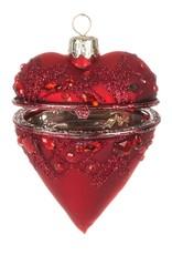 Red Heart Box Ornament