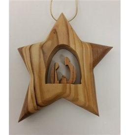 Thick Star Holy Family Ornament