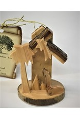 Mini Bark Nativity Ornament
