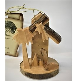 Mini Bark Nativity Ornament