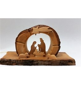 Arched Grotto Holy Family Under Star