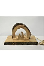 Mini Arched Grotto Holy Family Under Star