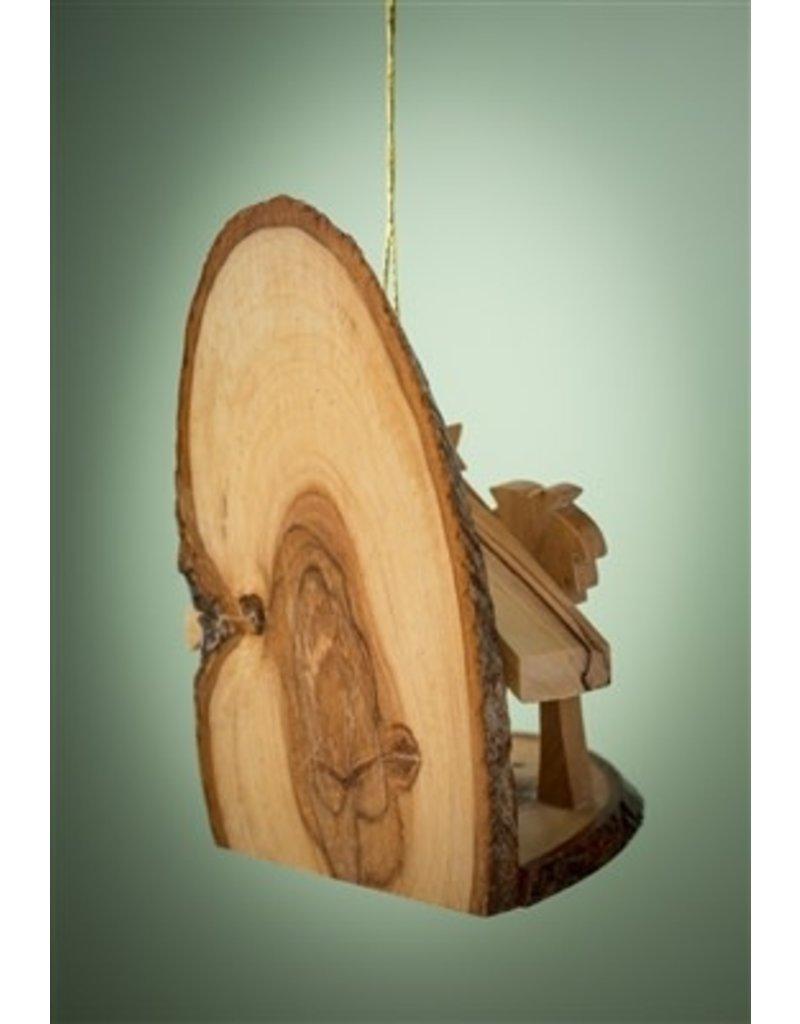Small Bark Slice Grotto Ornament