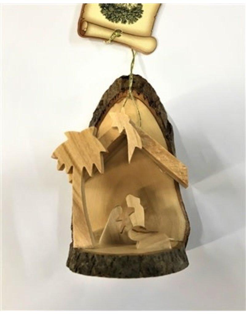 Mini Bark Slice Grotto Ornament