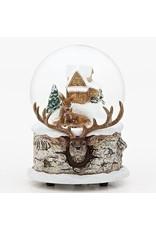 Deer Family Musical Snowglobe