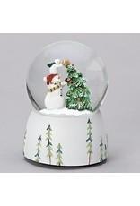 Snowman Christmas Tree Musical Snowglobe