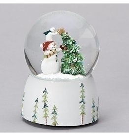 Snowman Christmas Tree Musical Snowglobe