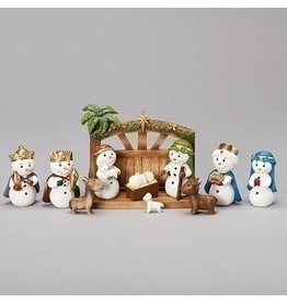 Snowman Nativity Set of 11