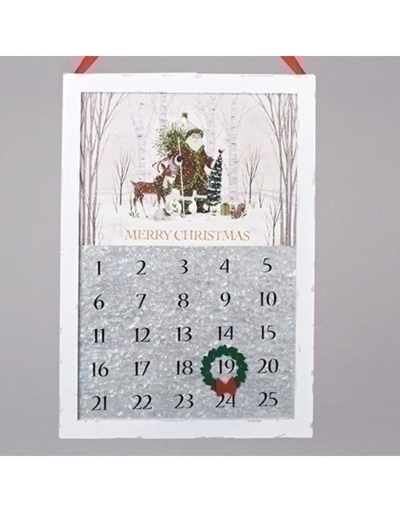 Metal Woodland Santa Countdown
