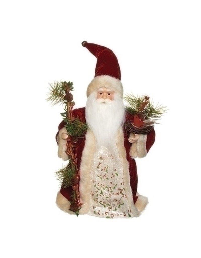 Velvet Berry Santa Treetopper