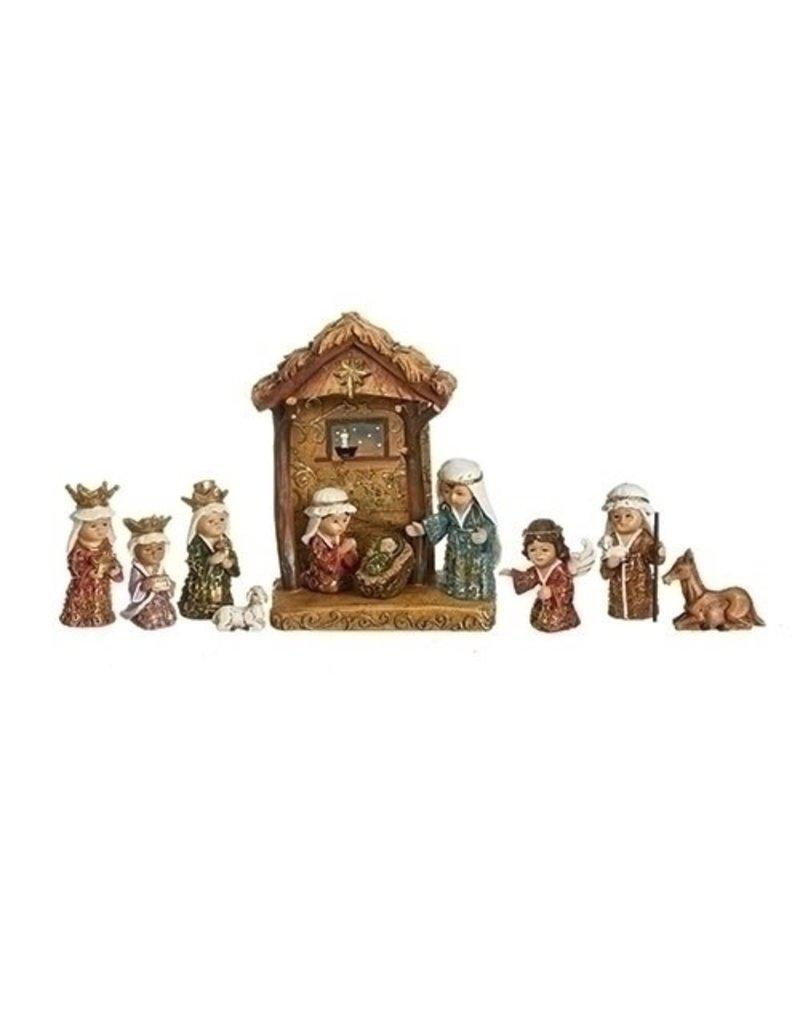 Gold Leaf Kids Nativity Set of 11