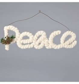 Yarn Holly Peace Orn