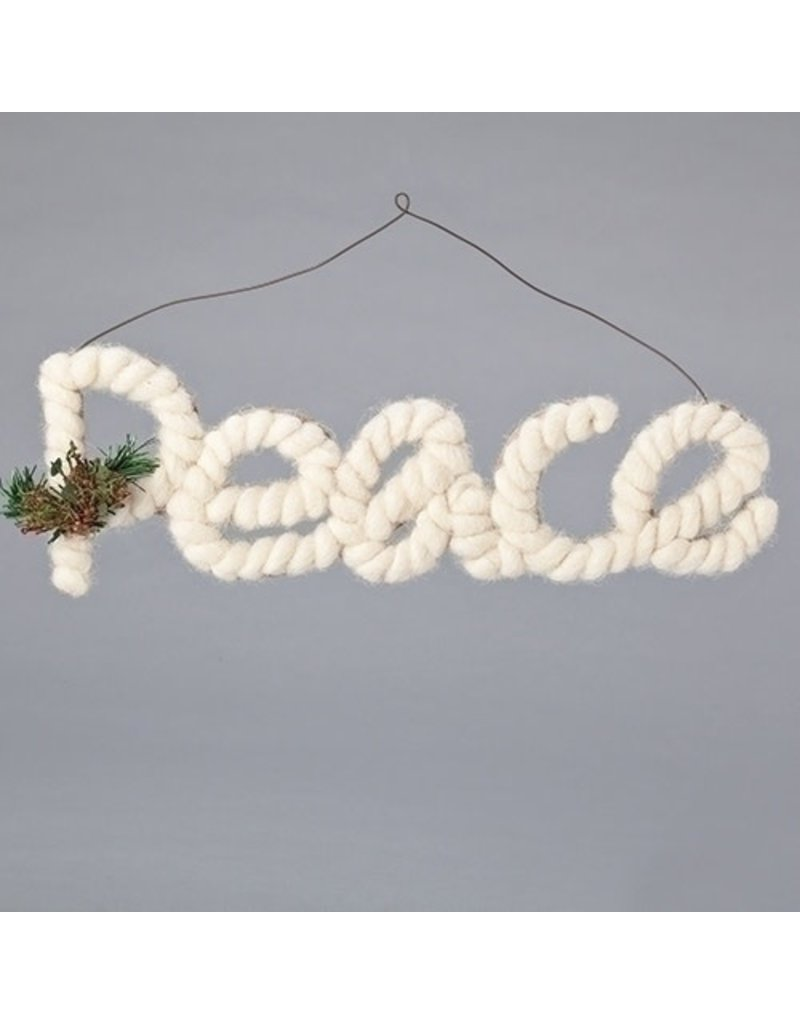 Yarn Holly Peace Orn