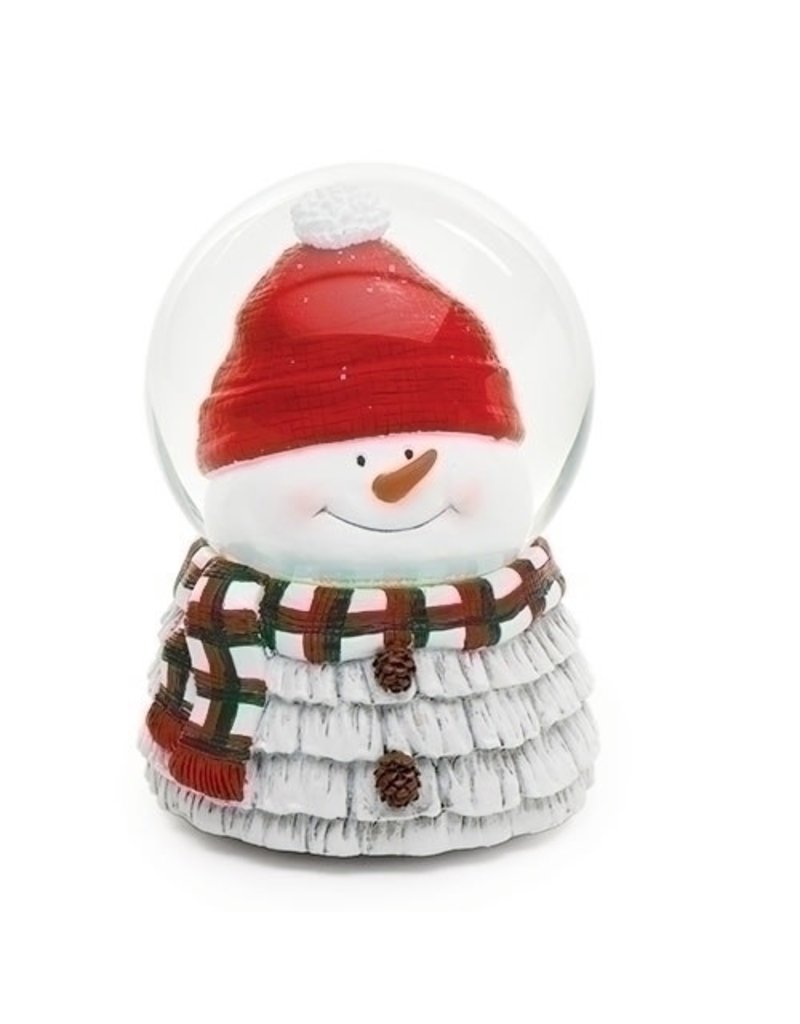 Snowman Head Musical Snowglobe
