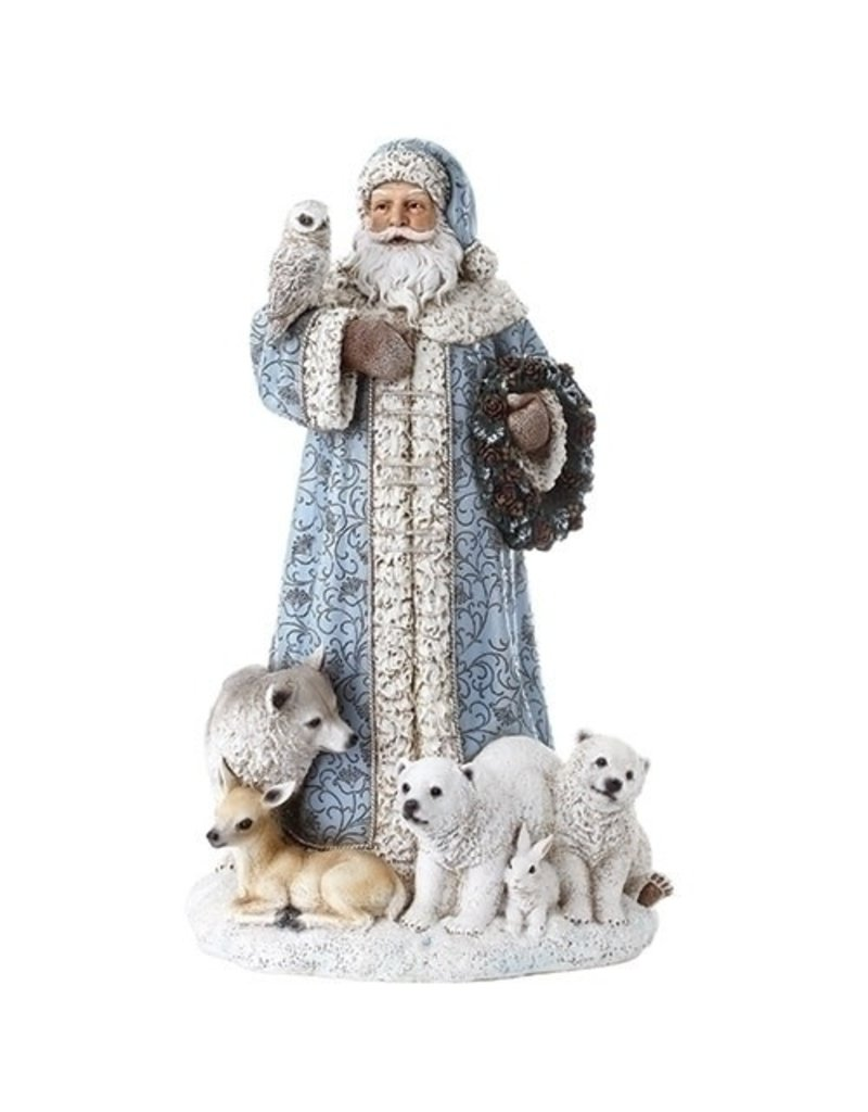 Northern Ice Santa with Owl and Animals