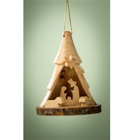 Small Bark Tree Nativity