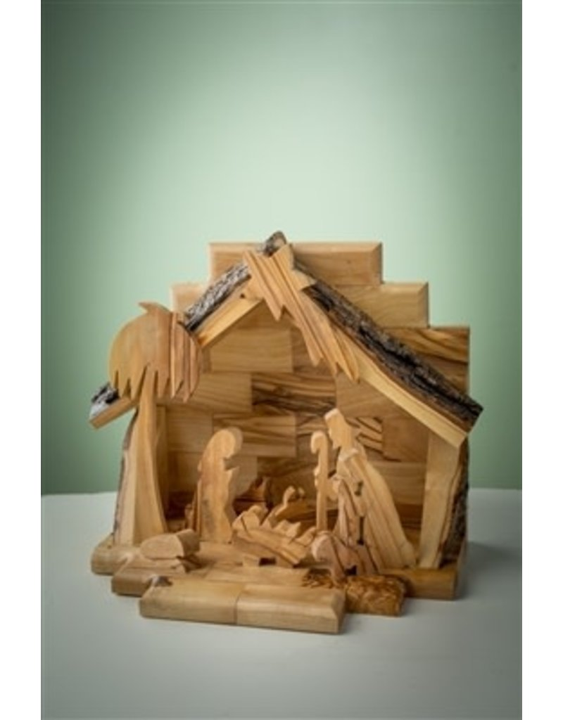 One Piece Nativity with Silhoutte Figures