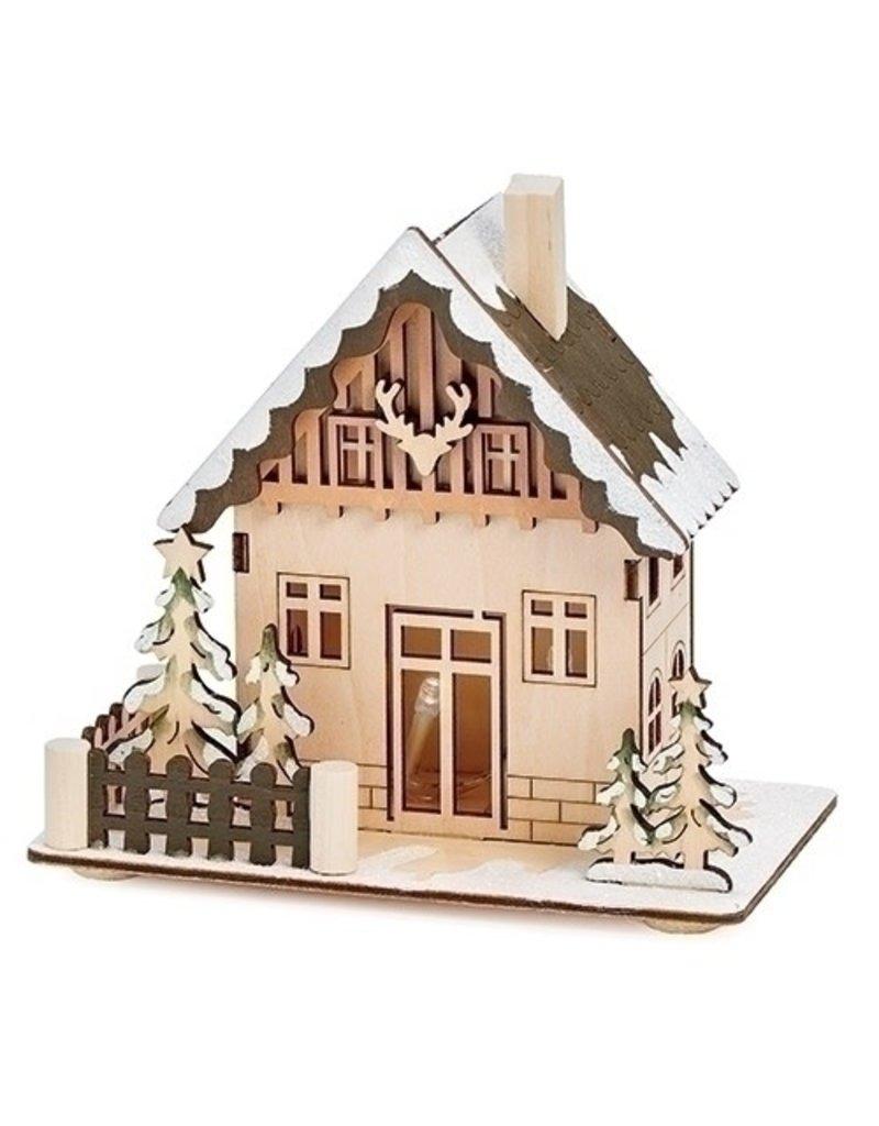 Christmas Crafts Lit Antler Cabin