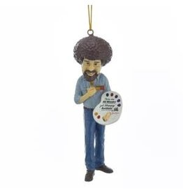 Bob Ross with Palette Ornament
