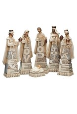 Stacked Word Nativity Set of 6