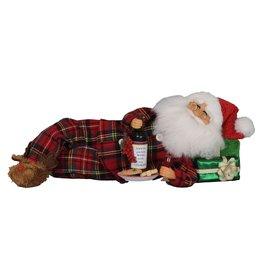 Karen Didion Karen Didion Lying Wine Midnight Snack Santa