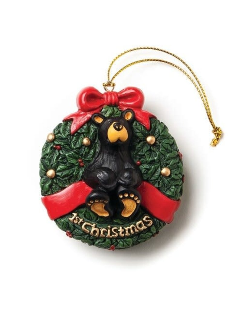 Bearfoots 1st Christmas Bear Ornament