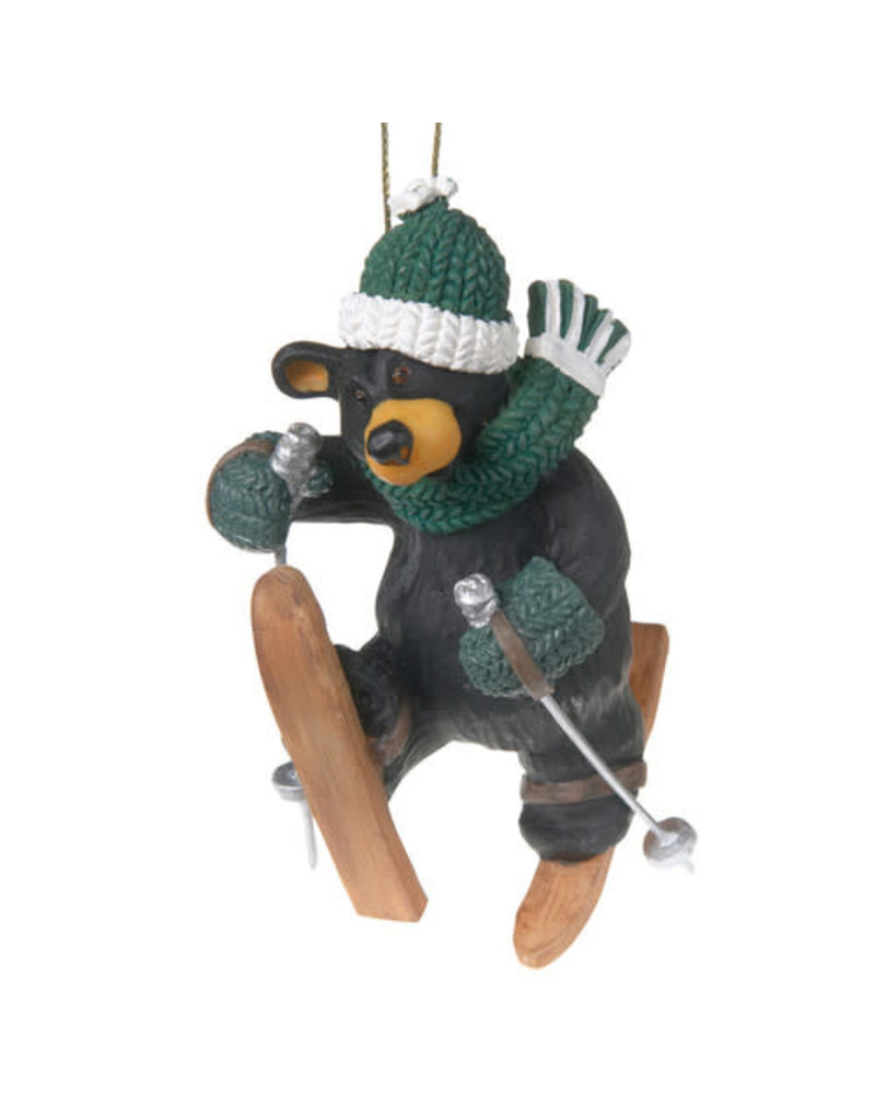Bearfoots Ski Tumble Bear Ornament