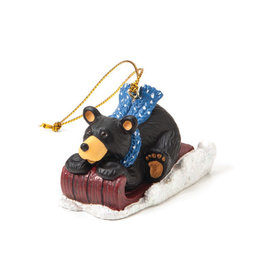 Bearfoots Red Sled Ornament